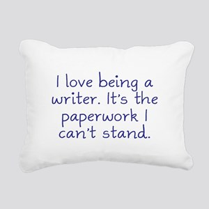 Being a Writer Rectangular Canvas Pillow