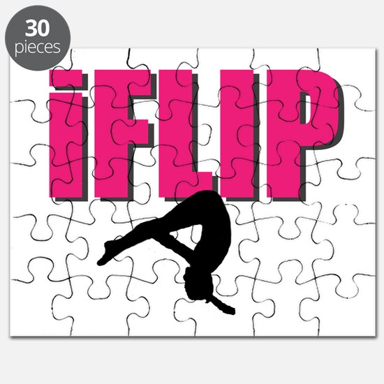 I Flip Tumbling gymnast Puzzle