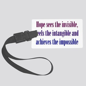 Impossible Hope Large Luggage Tag