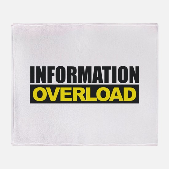 Information Overload Throw Blanket