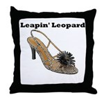 Leapin' Leopard Throw Pillow