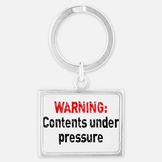 Contents Under Pressure Landscape Keychain