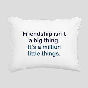 Friendship is Rectangular Canvas Pillow