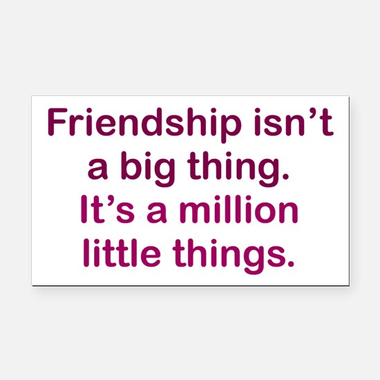 Friendship is Rectangle Car Magnet