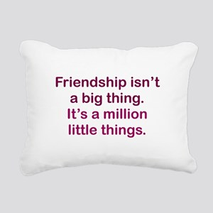Friendship is Rectangular Canvas Pillow