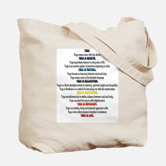 Retro yoga Tote Bag