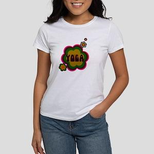 Retro yoga w. back print Women's T-Shirt