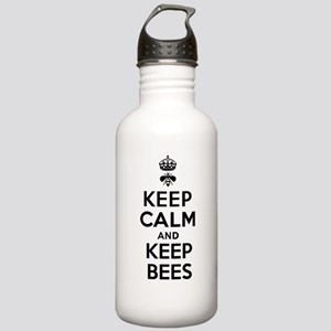 Keep Calm and Keep Bees Stainless Water Bottle 1.0