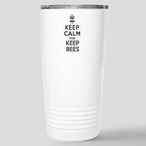 Keep Calm and Keep Bees Stainless Steel Travel Mug
