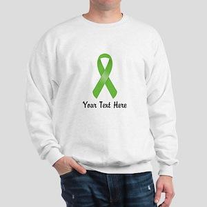 Green Awareness Ribbon Customized Sweatshirt
