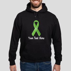 Green Awareness Ribbon Customized Hoodie (dark)