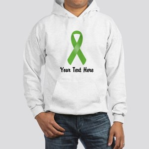 Green Awareness Ribbon Customize Hooded Sweatshirt