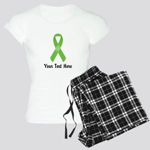 Green Awareness Ribbon Cust Women's Light Pajamas