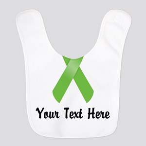 Green Awareness Ribbon Customiz Polyester Baby Bib