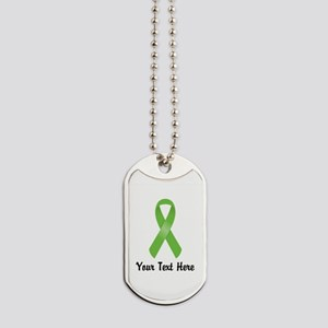 Green Awareness Ribbon Customized Dog Tags