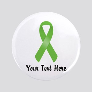 Green Awareness Ribbon Customized Button