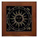 Gold Astrowheel on Black Framed Tile
