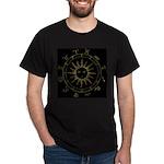 Gold Astrowheel Black T-Shirt