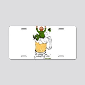 Pot of Gold Aluminum License Plate