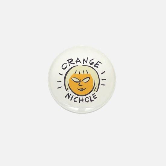 Orange Nichole Mini Button