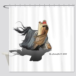 Yorkie HONZA Shower Curtain