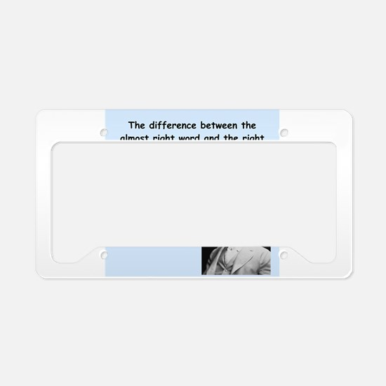 Mark Twain Quote License Plate Holder