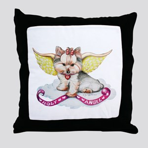 Holly Angel Holly Throw Pillow