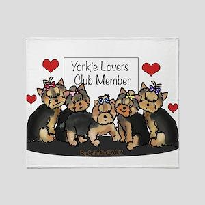 Yorkie Lovers Club Member Throw Blanket