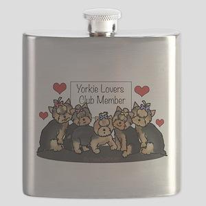 Yorkie Lovers Club Member Flask