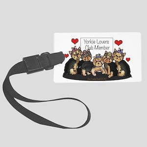 Yorkie Lovers Club Member Luggage Tag