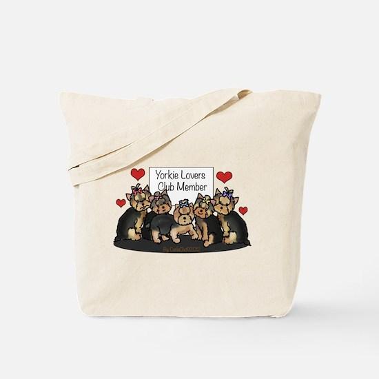 Yorkie Lovers Club Member Tote Bag