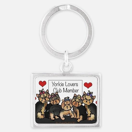Yorkie Lovers Club Member Landscape Keychain