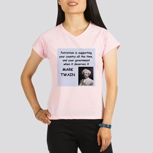 Mark Twain Quote Peformance Dry T-Shirt