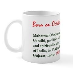 Mug: Mahatma (Mohandas) Gandhi, pacifist, politica