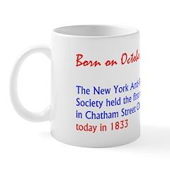 Mug: New York Anti-Slavery Society held the first