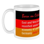 Mug: East and West Germany reunified amidst the co