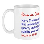 Mug: Harry Truman made the first televised preside