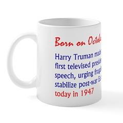 Mug: Harry Truman made the first televised preside