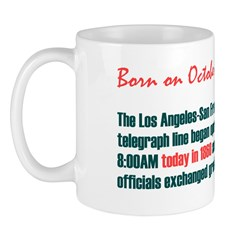 Mug: Los Angeles-San Francisco telegraph line bega