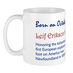 Mug: Leif Erikson Day Honoring the Icelander and f