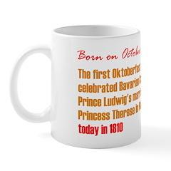 Mug: First Oktoberfest celebrated Bavarian Crown P