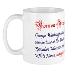 Mug: George Washington laid the cornerstone of the