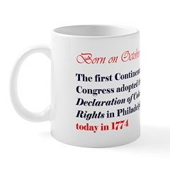 Mug: First Continental Congress adopted the Declar