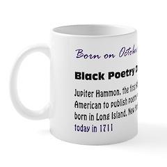 Mug: Black Poetry Day Jupiter Hammon, the first Af