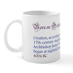 Mug: Creation, according to the 17th-century Angli