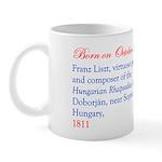 Mug: Franz Liszt, virtuoso pianist and composer of