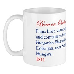 Mug: Franz Liszt, virtuoso pianist and composer of