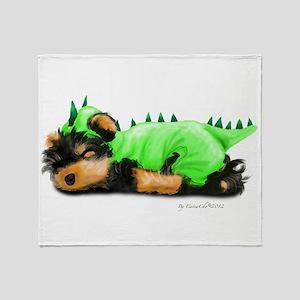 Yorkie Dragon Throw Blanket