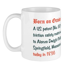 Mug: A US patent (No. 68) for friction safety matc