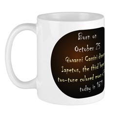 Mug: Giovanni Cassini discovered Iapetus, the thir
